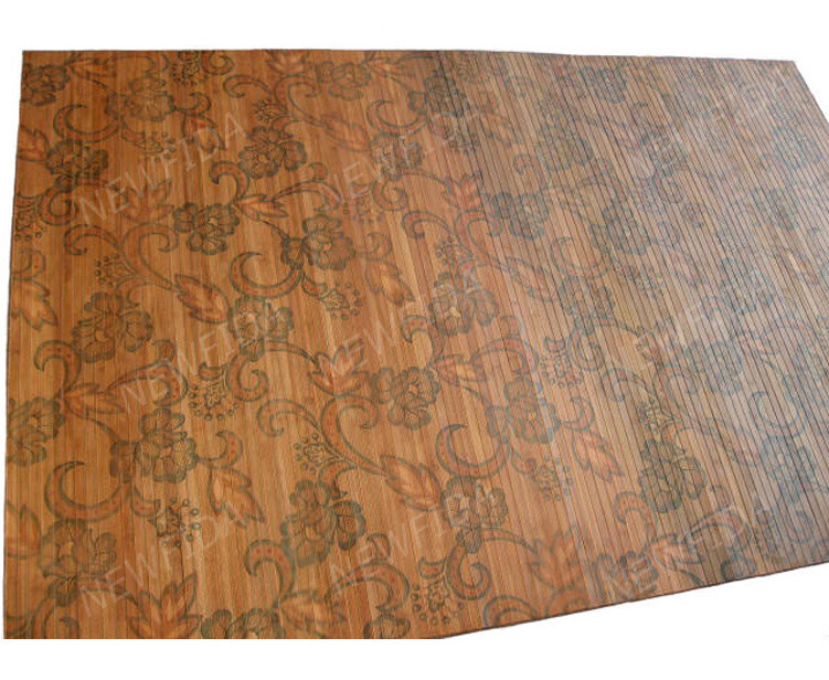 Elegant high quality 4 x 6 ft bamboo floral pattern wall for Floral pattern wall to wall carpet
