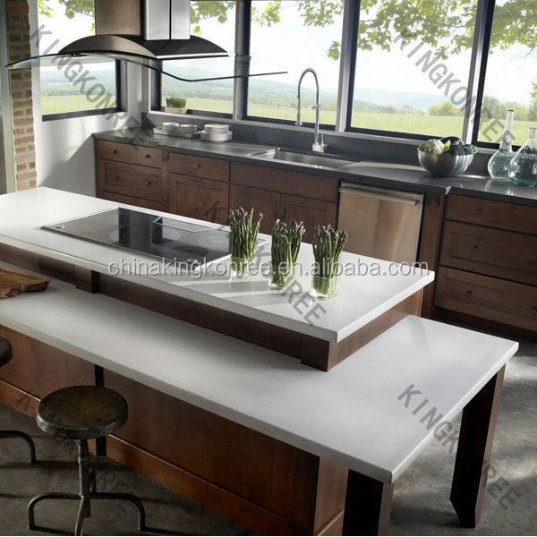 china manufacture 100% pure white quartz kitchen counter tops