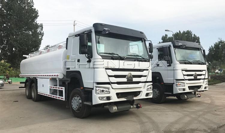 Sinotruk Howo 20000 Lít 6000 Gallon Dầu Diesel Transporter Công Suất Bình Nhiên Liệu Tàu Chở Xe Tải Cho Bán