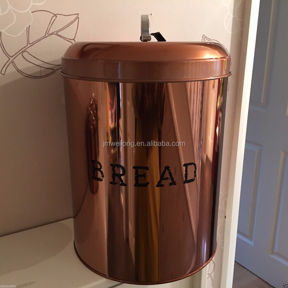 Copper Effect Retro Food Canisters Amp Bread Bin Storage Set