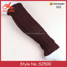 S2500 new simple custom plain blank boot cuff socks knit leg warmers for women