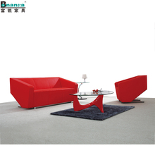 862 rot leder made in china sofa set wohnzimmer moderne