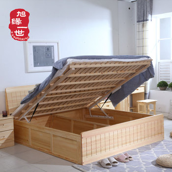 Factory Direct Price Hydraulic Lift Up Double Storage Bed