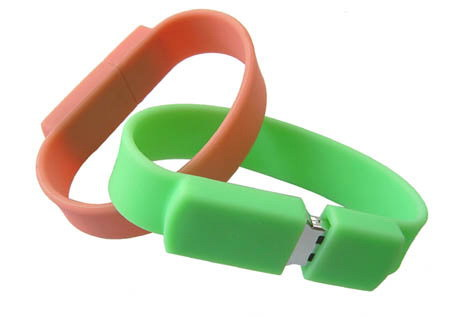 Promotional USB Flash Drive Silicone Wristbands