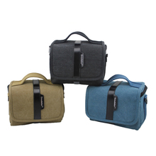 newest vintage camera bag for mirrorless camera with waterproof function and canvas material