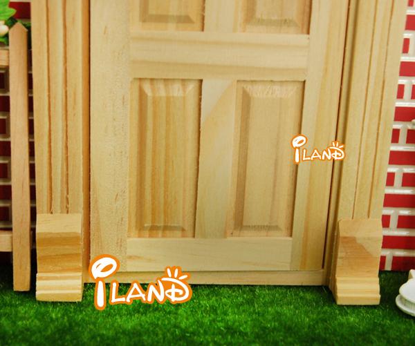 Small Fairy Door Mini Doors Wood Plain Door Yorktown Door With Dentil Moulding OA011D & Small Fairy Door Mini Doors Wood Plain Door Yorktown Door With ...