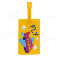 Cheap price flexible transparent soft pvc 3d luggage tag
