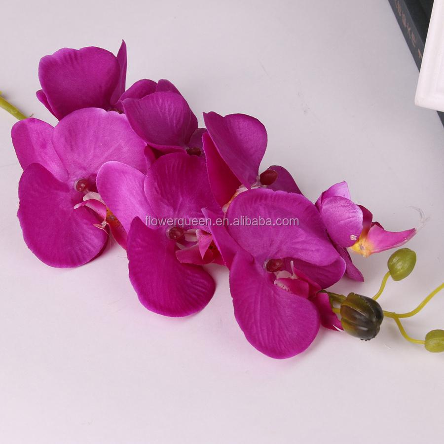 7 Flowers Artificial Orchid Plant Canada Wedding Bouquet Silk ...
