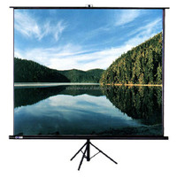 Tripod Standing Projection Screen Fabric Matt White High Gain Projector Screen For Led Video Projector