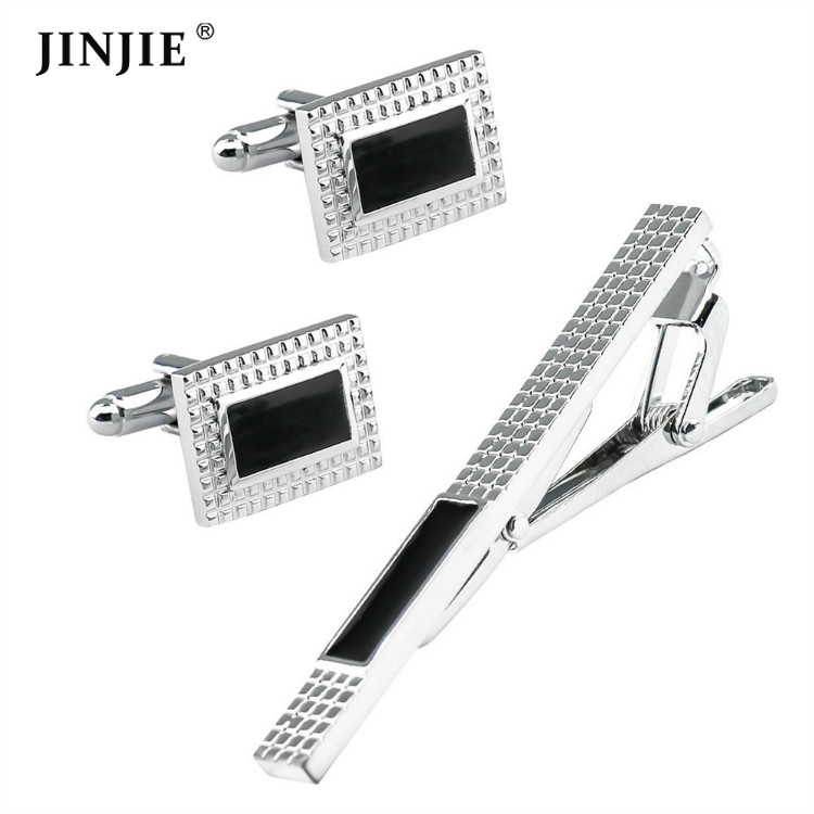 Custom Tie 바 기념품 Men Gift Set CuffLinks Tie Clips