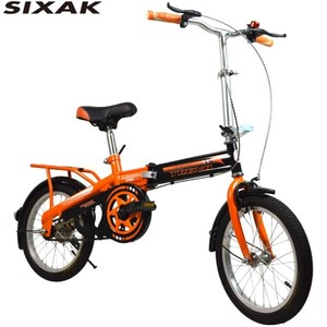 "China Supplier 16"" inch Folding city bike 6Speed gear Steel frame Student bicycle"