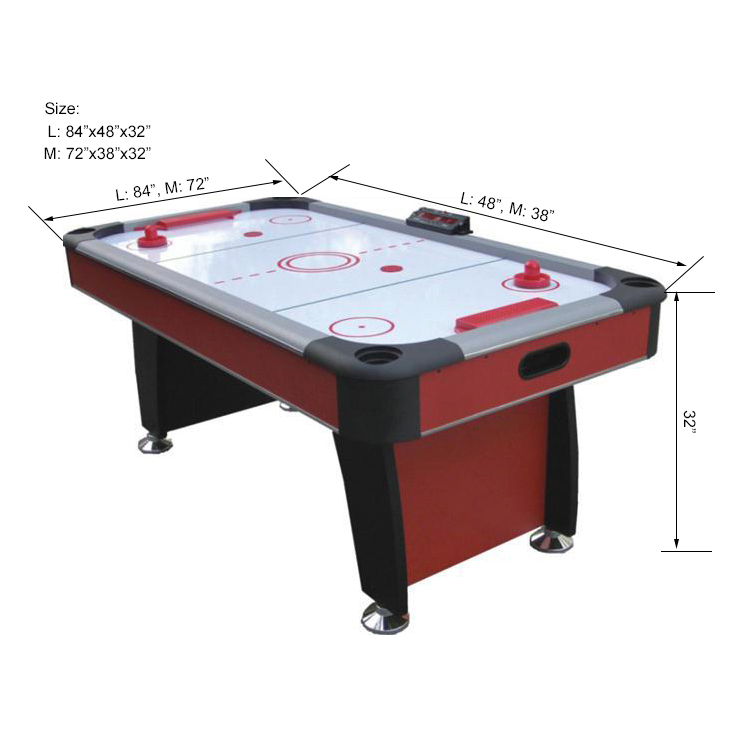 High quality PVC Laminated MDF air hockey table for adult