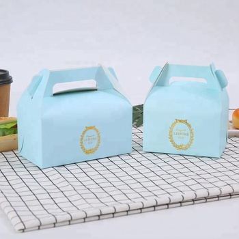 Cheap Cake Box christmas Packaging Container Food Paper with Handle cardboard box