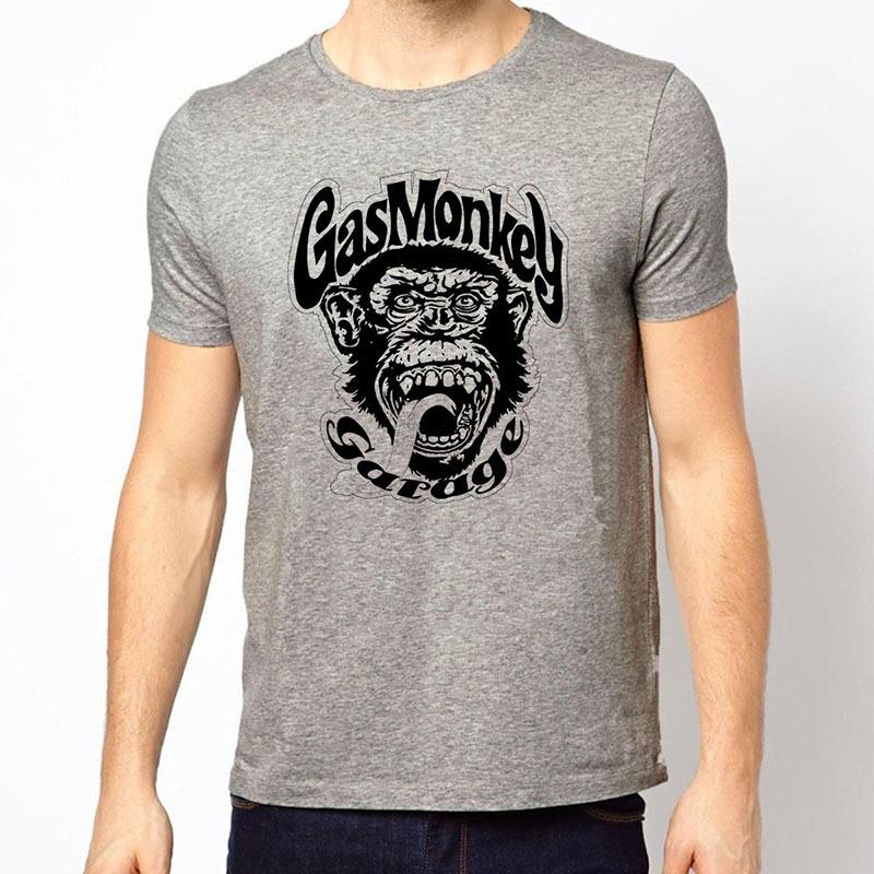 2015 Brand Summer Style Gas Monkey Garage T Shirt O Neck