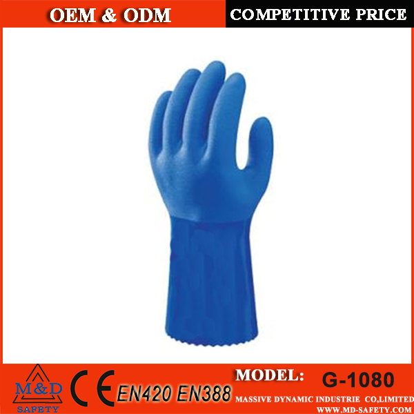 High quality oil resistant rugged surface finish teflon gloves