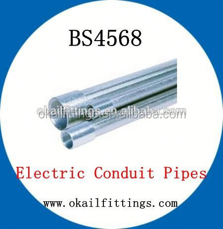 Cold rolled bs4568 gi hot dipped galvanized electro galvanized steel tube