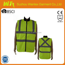 high visibility wholesaleyellow Safety Vest reflective hi vis worker dress bulletproof vest meets EN471