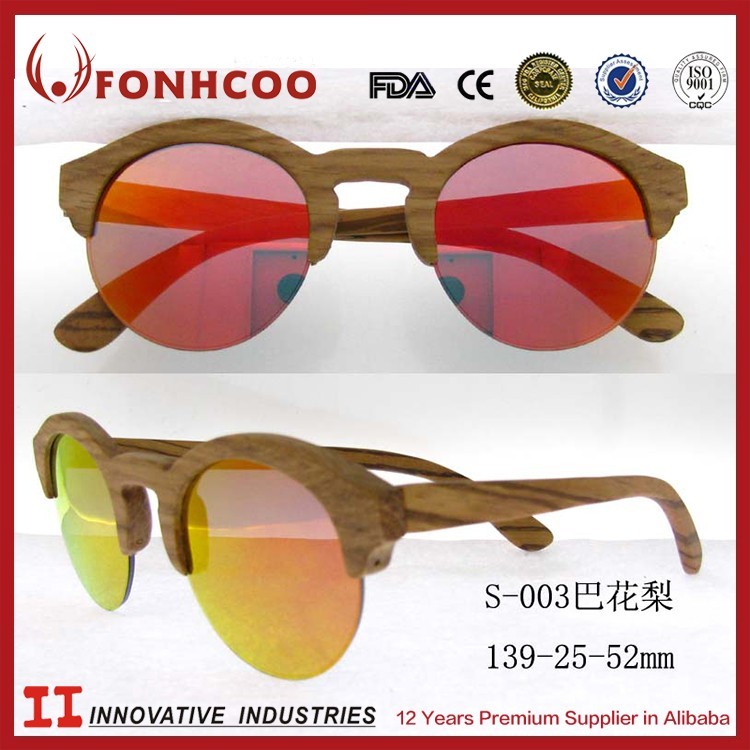 Fonhcoo High End Wholesale Colorful Wooden Frame Wood Sunglasses ...