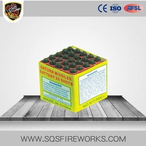 Wholesale rocket whistling battery firecrackers 50 shots missile fireworks