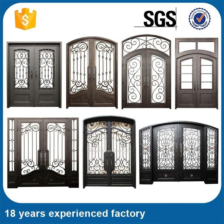 puertas de entrada de hierro forjado puerta de entrada de hierro para casa grande