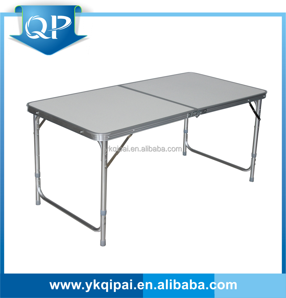 2016 new light weight outdoors portable aluminum folding table