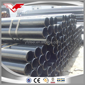 Tianjin Youfa API 5L Gr.B/ASTM A53 Black Painted ERW MS Steel Pipes