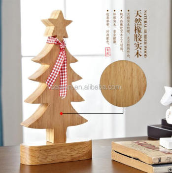 new china wholesale wooden christmas tree wooden door decor items christmas wooden table decoration for house