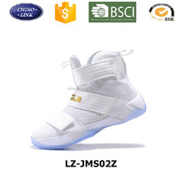 Customized new design Model men sports shoe , authentic basketball shoes , high cut model men Soldier sports shoe