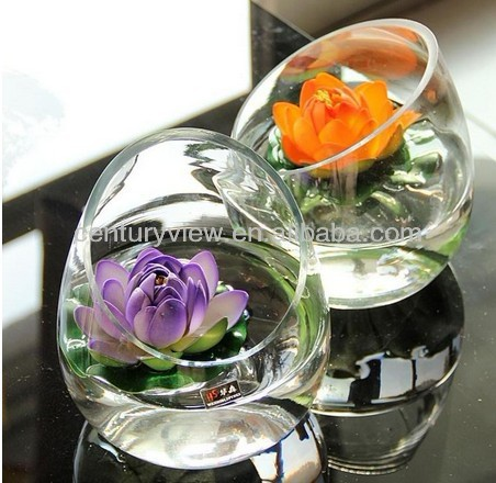 Wholesale Decorative Flower Vase Round Glass Bowl Vase Buy Round