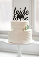 "wedding bride shower cake toppers ""Bride to be"" love heart cake toppers for engagement party decor"