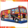 high quality fire truck inflatable jumper with slide for sale