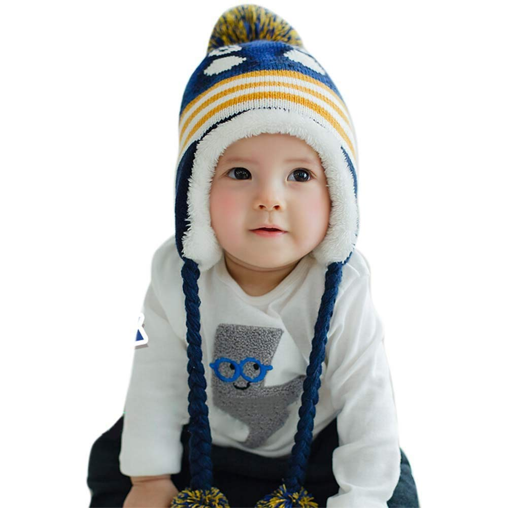 Ancia Unisex Baby Girl Child Kids Boys Cute Hat for Cold Winter