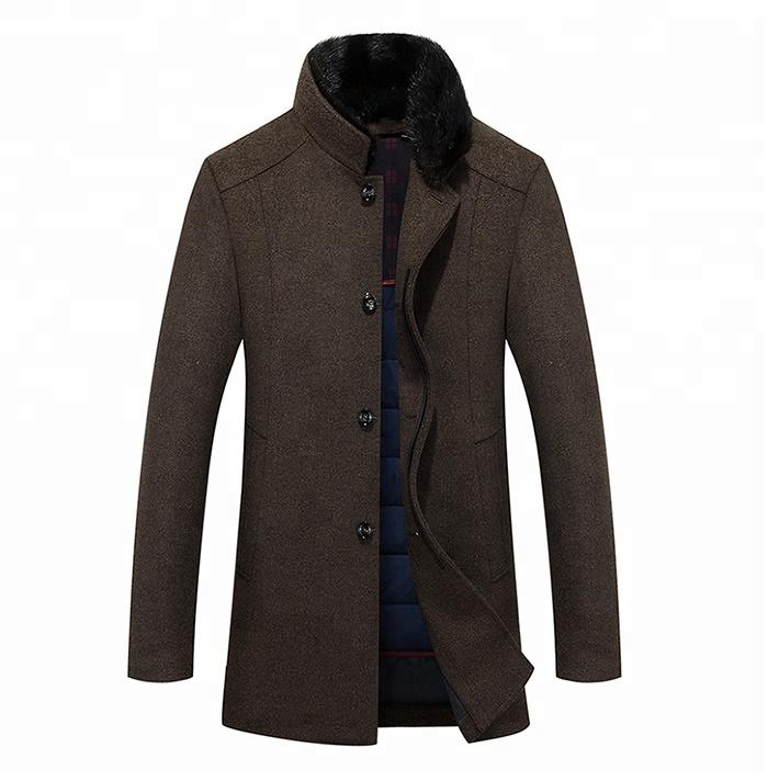 Winter Clothes Mature Wool Coat Western Men Coats