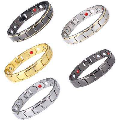 E17 Wholesale Women Man Silver Gold Plated Health Care Therapy <strong>Bracelet</strong> Love Heart Health <strong>Energy</strong> <strong>Magnetic</strong> <strong>Bracelet</strong>
