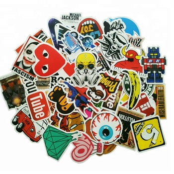 Custom Durable Die Cut Vinyl Removable Skateboard Band Laptop Bomb Decal  Stickers - Buy Decal Stickers,Removable Skateboard Stickers,Custom Vinyl