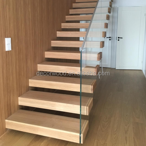 Timber Staircase Price: Best Price Customized Design Wooden Timber Stair Tread