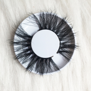 Human Hair Material and Natural Black Color mink eyelashes private label mink eyelashes