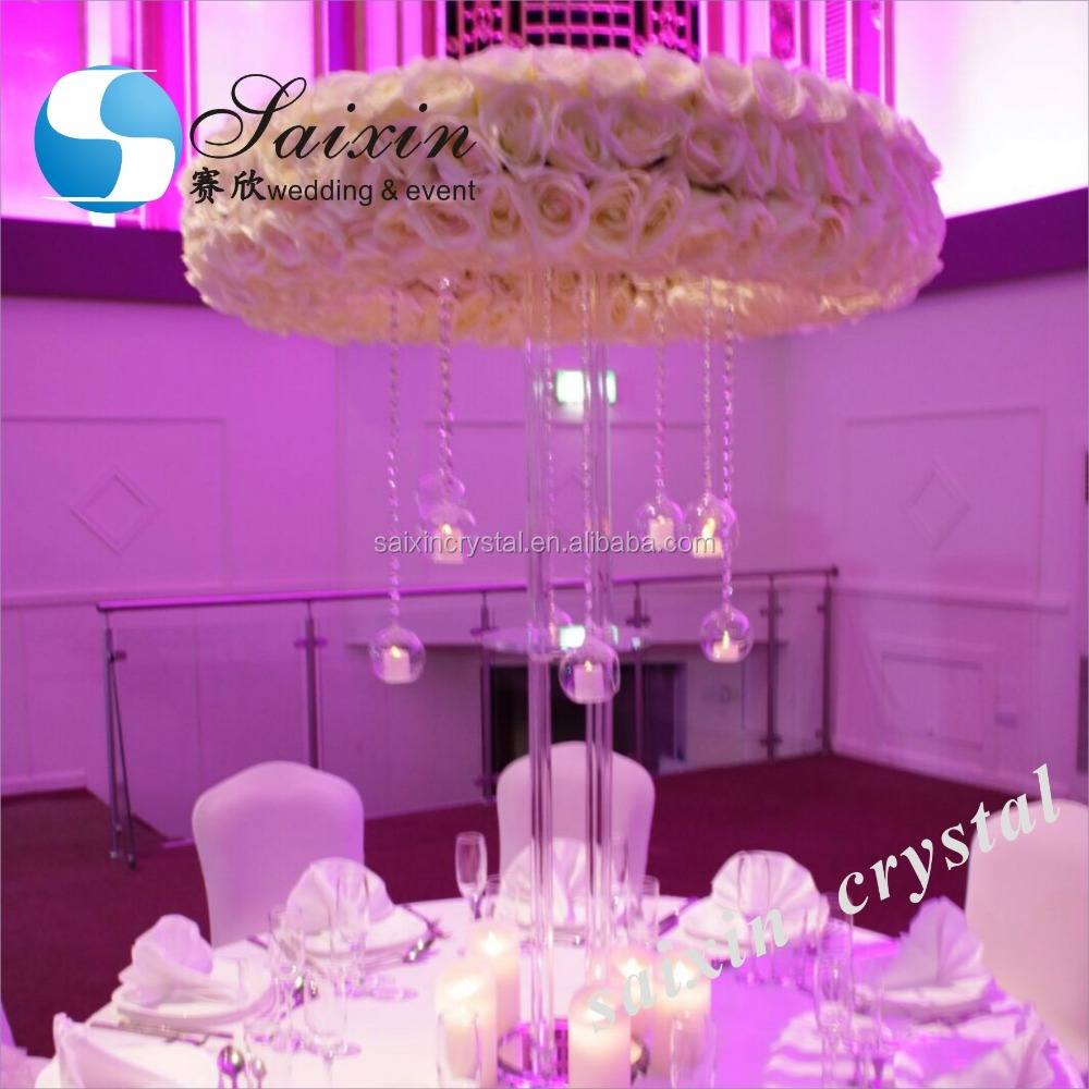 Gorgeous Large Crystal Flower Stand Wedding Table Centerpieces - Buy ...