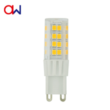 Indoor ceramics housing LED bulb AC85-265V 4W G9 for chandelier, crytal light,replace halogen