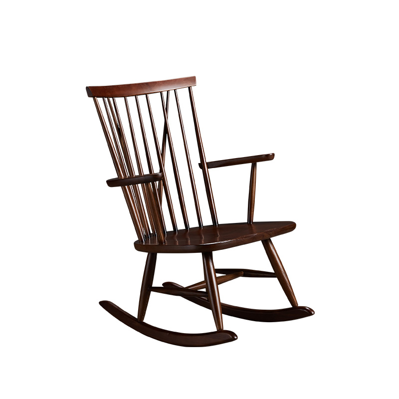 Ash leisure chair living room home wooden rocking chair