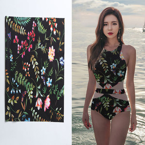 New product 2018 sexy young girls one piece printed spandex bathing suit swimwear fabric for beautiful women