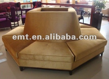 Round Hotel Furniture Sofa For Lobby Area Emt Sf01