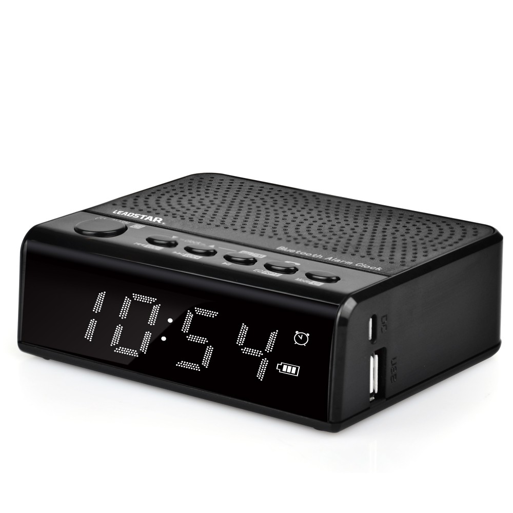 Mobile accessories hot selling wireless stereo speakers radio alarm clock wireless portable mini music speaker