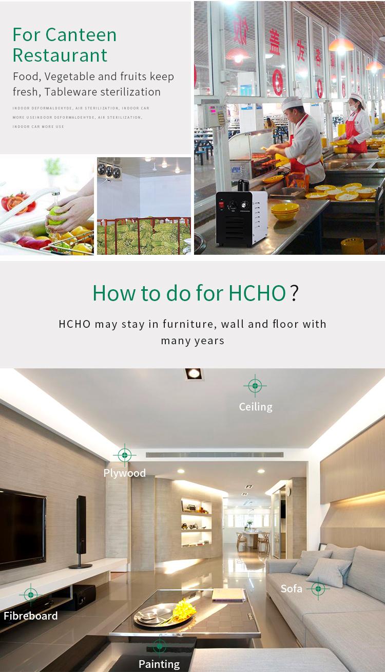 Home use gesundheitswesen ozon-generator luftreiniger für geruch, bakterien, virus tötung