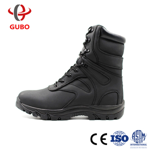 Oil Industry good leather insulation technology S5 military boots police shoes