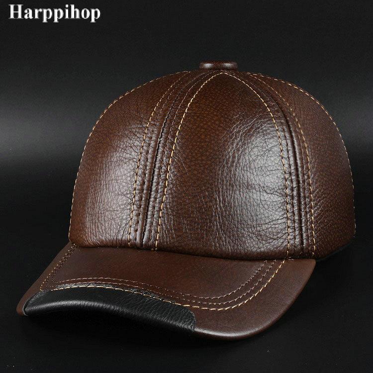 Compre Nuevo Sombrero De Cuero De Moda De Invierno Para Hombre Gorra ... 06c4fd6a469