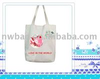 2011 popular tote bag cotton with printing
