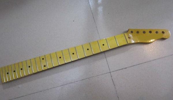 21 fret tiger flame material maple yellow color electric guitar neck wholesale guitar parts. Black Bedroom Furniture Sets. Home Design Ideas