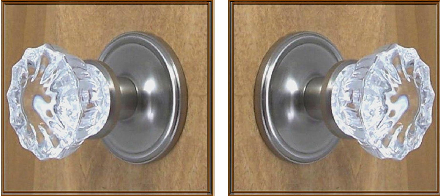 Charmant Get Quotations · One Pair Of Surface Mount French Door Dummy Knob, No  Exposed Screws On Rosettes.