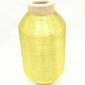 Chinese Manufacture of Gold Color Ms Type Metallic Thread Lurex Yarn Embroidery